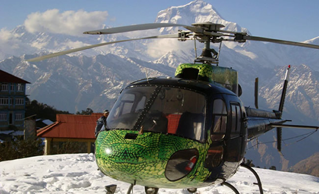 annapurna base camp by heli tour
